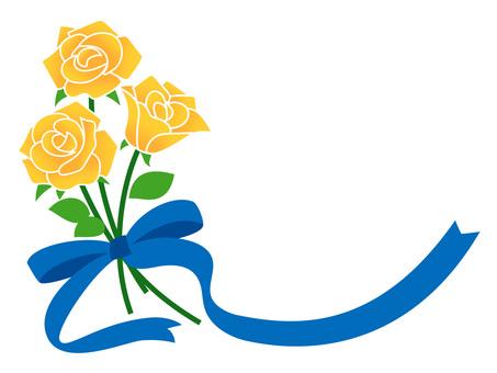 黄色い薔薇の花束イラスト/無料イラストなら「イラストAC」