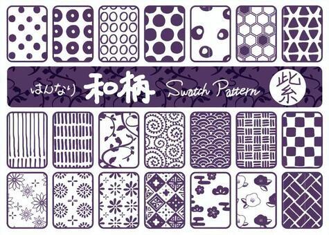 Japanese pattern pattern purple