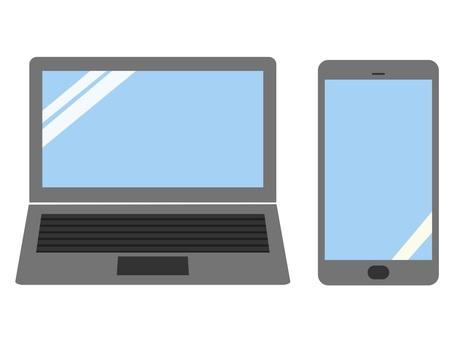 手提电脑和智能手机