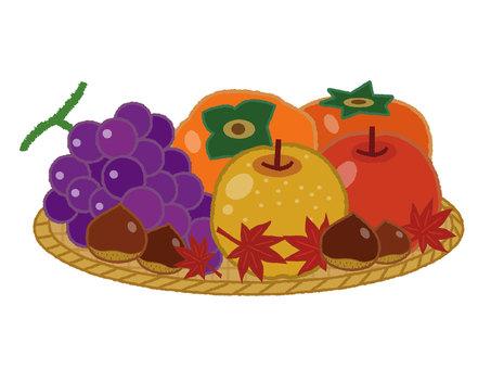秋の果物イラスト/無料イラストなら「イラストAC」