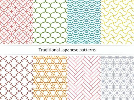 Japanese pattern of lines