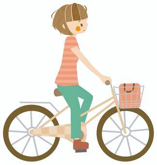 自転車に乗る人イラスト/無料イラストなら「イラストAC」