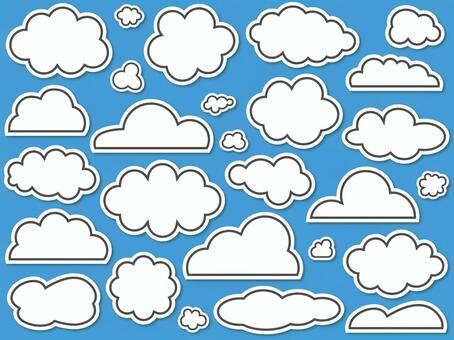 Various clouds (sticker style)