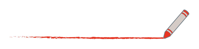 クレヨンで線を描くB・赤色イラスト - No: 1502502/無料イラストなら「イラストAC」