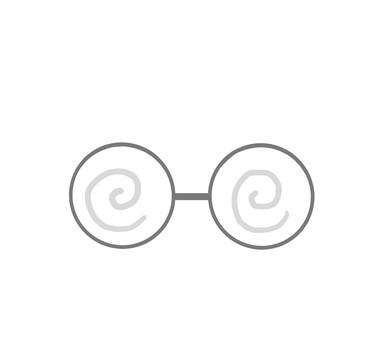 メガネ ぐるぐる