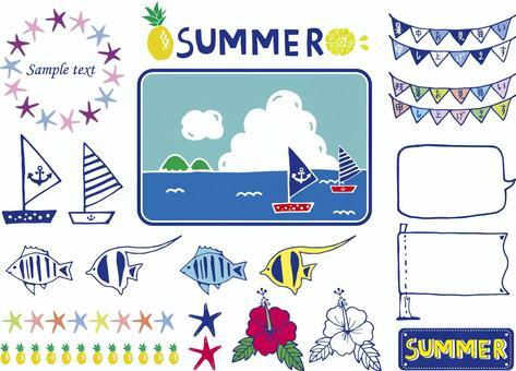 夏天的插图材料集