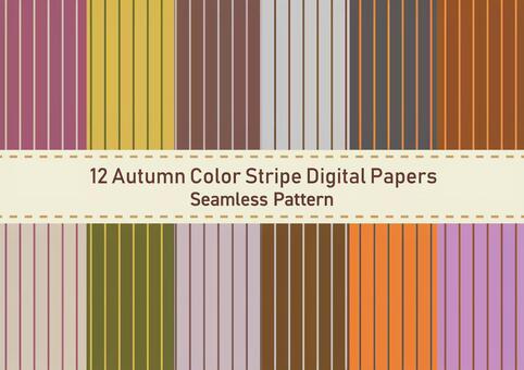 Stripe wallpaper set (autumn color)