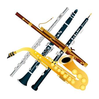 单簧管和长笛,大管和双簧管和萨克斯管