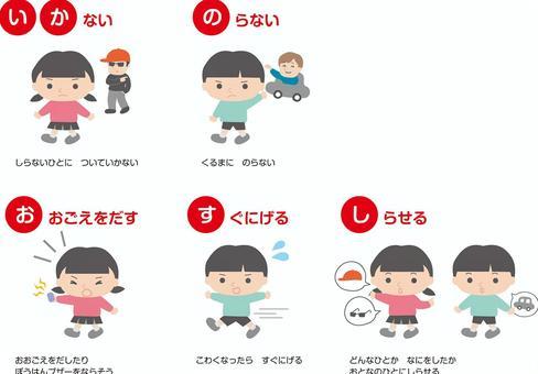 の おすし いか 兵庫県警察-子どもが犯罪被害に遭わないために