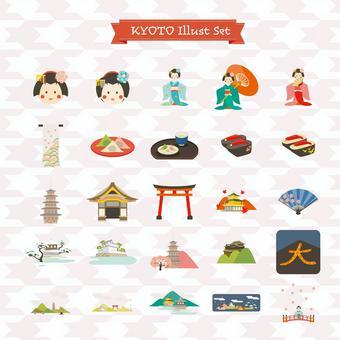 京都的插图