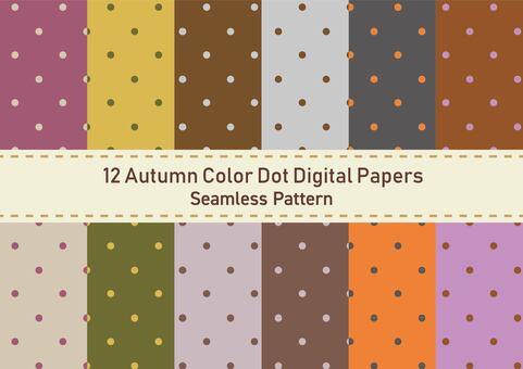 Dot pattern wallpaper set (autumn color)