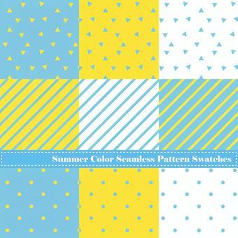 Summer color pattern set