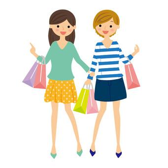 购物2名女