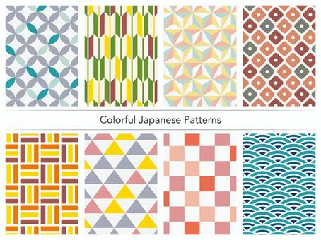 Colorful Japanese pattern
