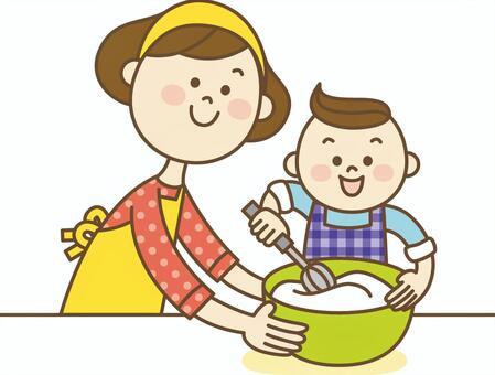 親子でお料理イラスト/無料イラストなら「イラストAC」