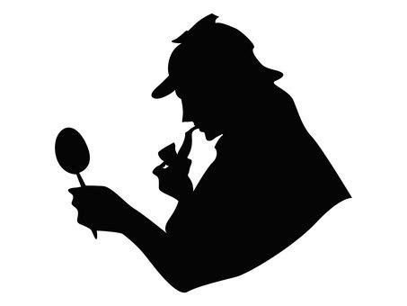 イラスト 探偵