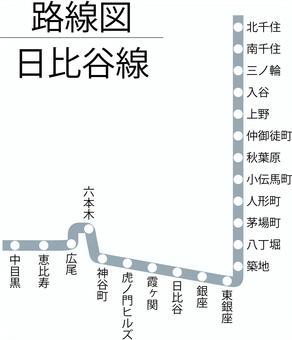 日比谷 東京 図 路線 メトロ 線
