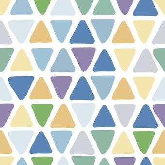 手書き風三角の背景素材(ブルー系)