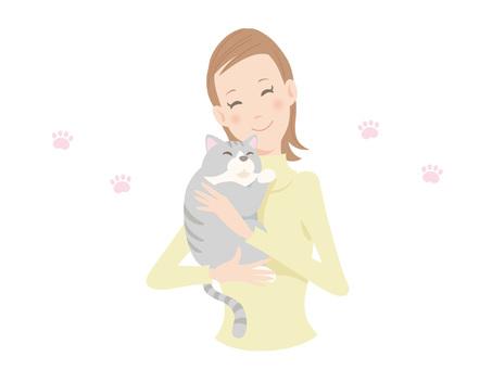 Female and cat _ 01