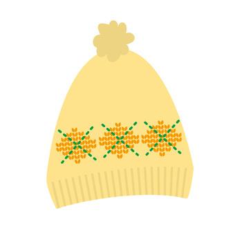针织帽(黄色)