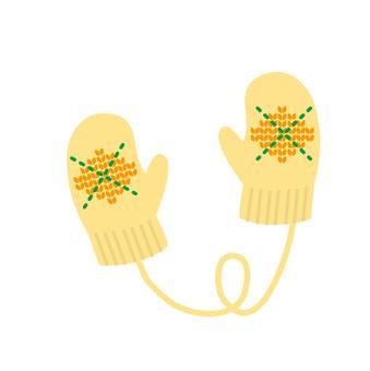 手袋(黄)