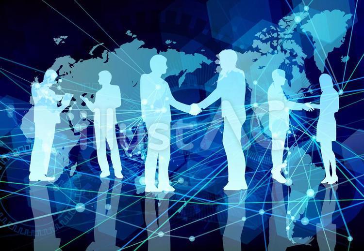 全球数字网络蓝色