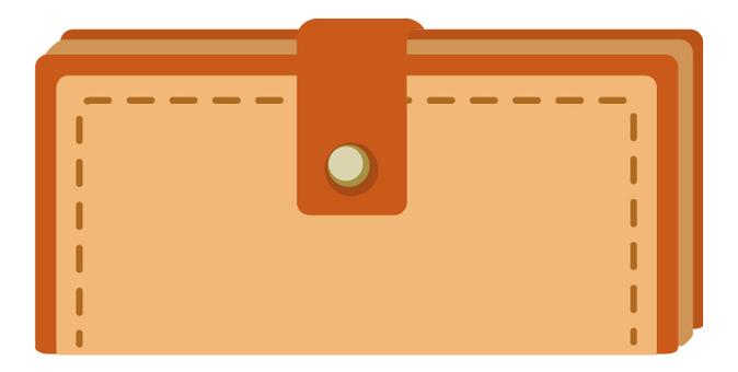 两个长钱包(棕色