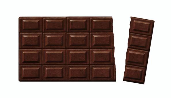 板チョコイラスト/無料イラストなら「イラストAC」