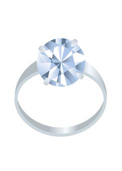 钻石的铂金戒指
