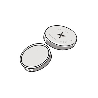 ボタン電池イラスト/無料イラストなら「イラストAC」