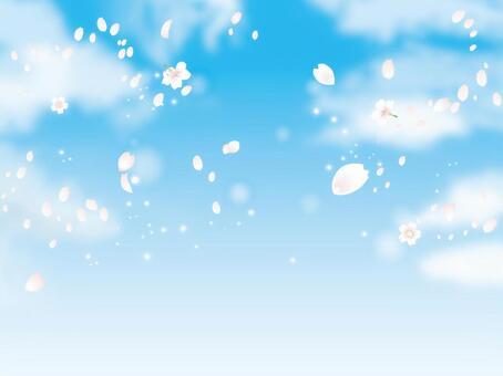 樱花与天空和云01