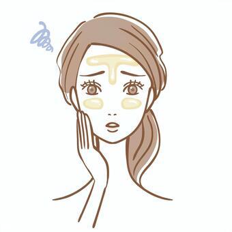 脂性肌 女性 肌トラブル