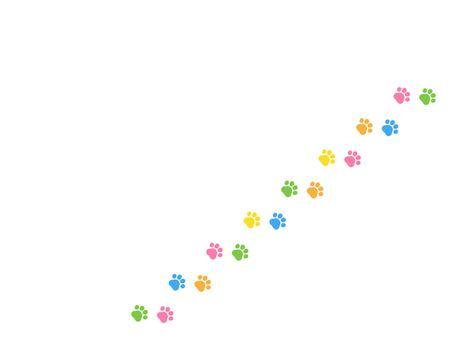 猫 足跡 シルエットイラスト/無料イラストなら「イラストAC」