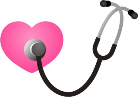 聴診器|シルエット イラストの無料ダウンロードサイト「シルエットAC」