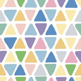 手書き風三角の背景素材(ピンク系)