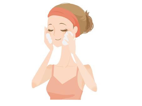 顔を洗うイラスト/無料イラストなら「イラストAC」