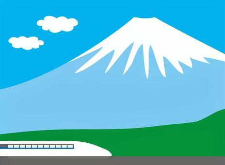 富士山和新干线