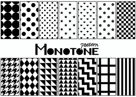 パターン8モノトーン