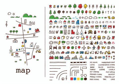 手绘地图<color>