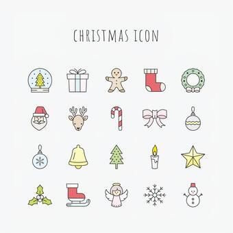 Christmas icon set C color