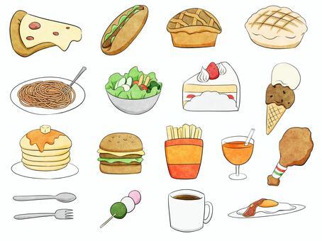 食べ物セット素材