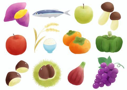 秋の味覚イラスト/無料イラストなら「イラストAC」