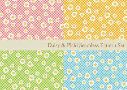 Daisy pattern (wallpaper) set