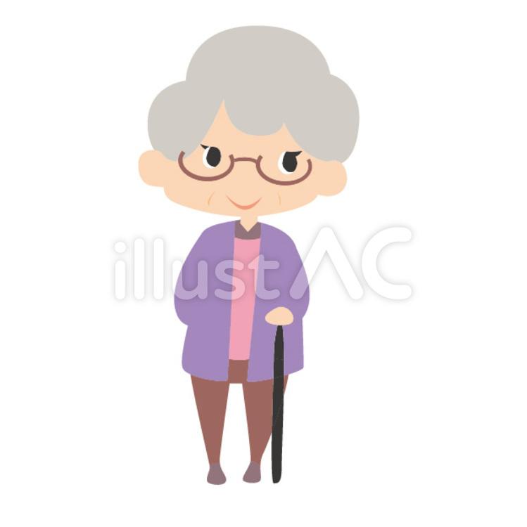 イラスト おばあちゃん
