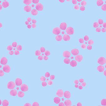 Plum blossom seamless pattern (watercolor)