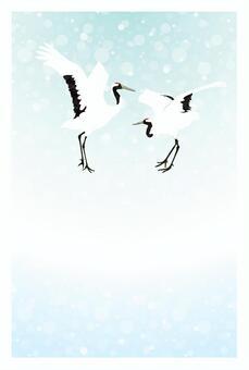 Visiting in the cold (Dansha cranes _ No character)
