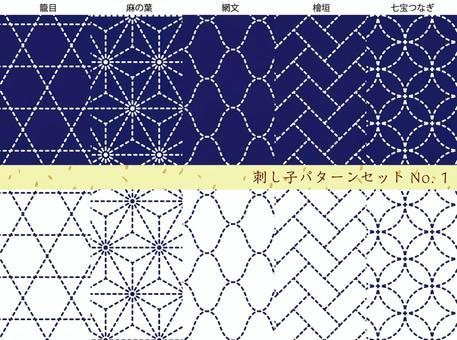 Pencil pattern set No.1