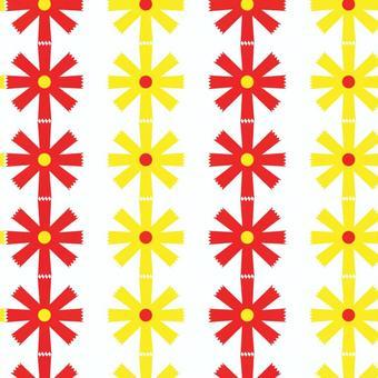 昭和复古图案:鲜花