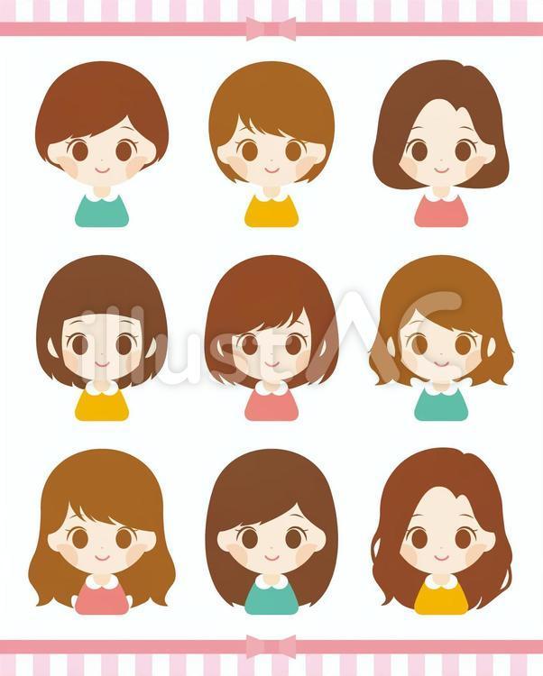 イラスト 女の子 髪型