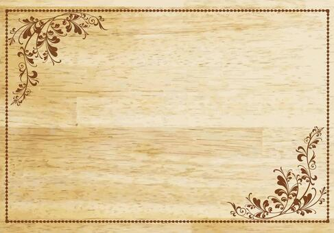 木纹招牌花边框架相框